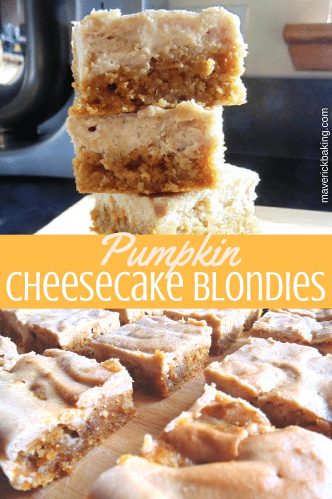 pumpkin cheesecake blondies
