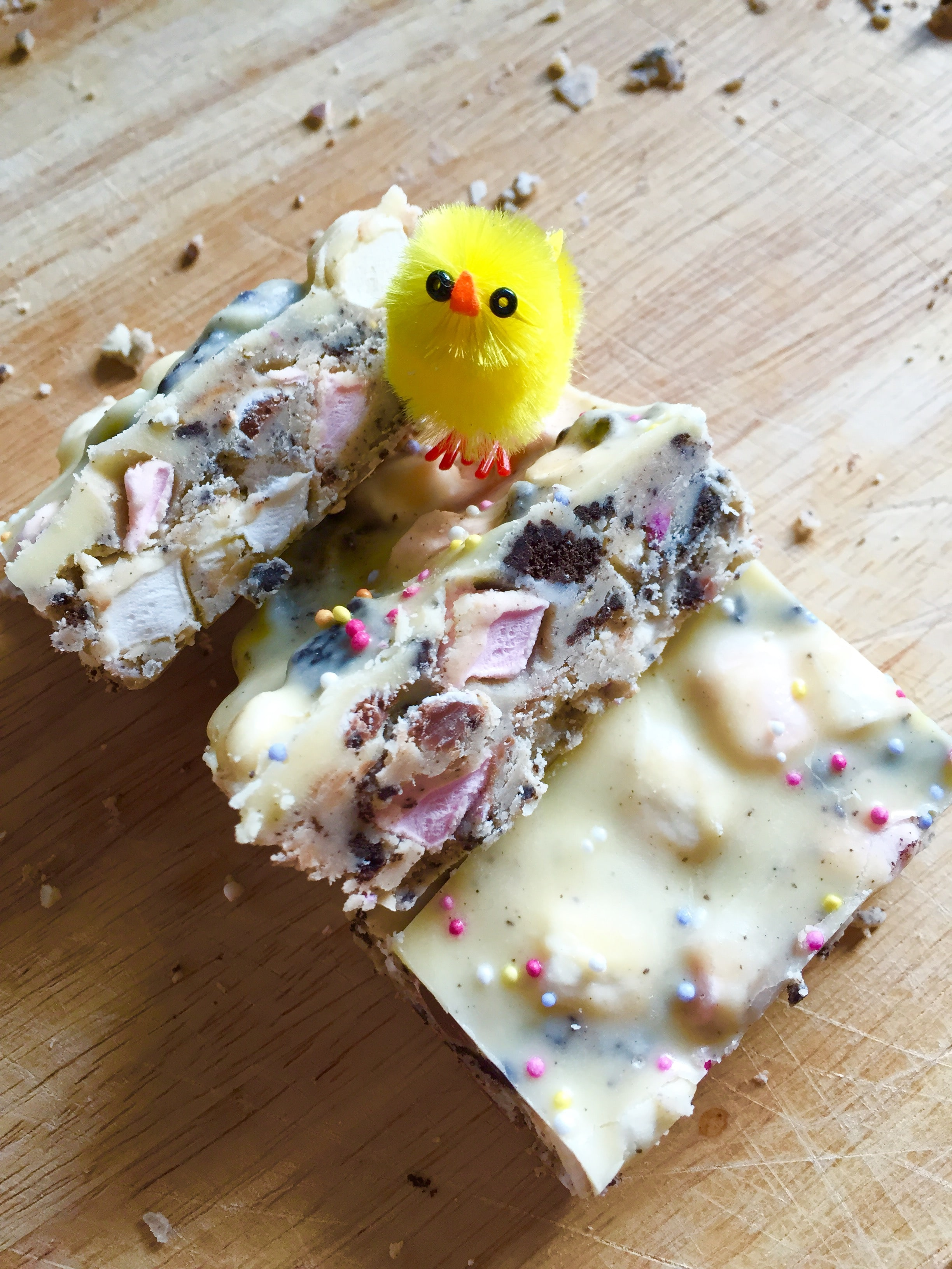 white chocolate easter rocky road