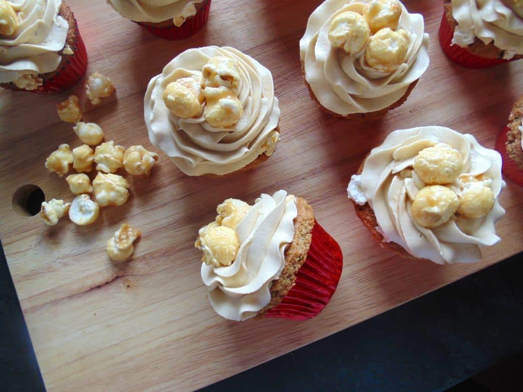 Toffee popcorn cupcakes