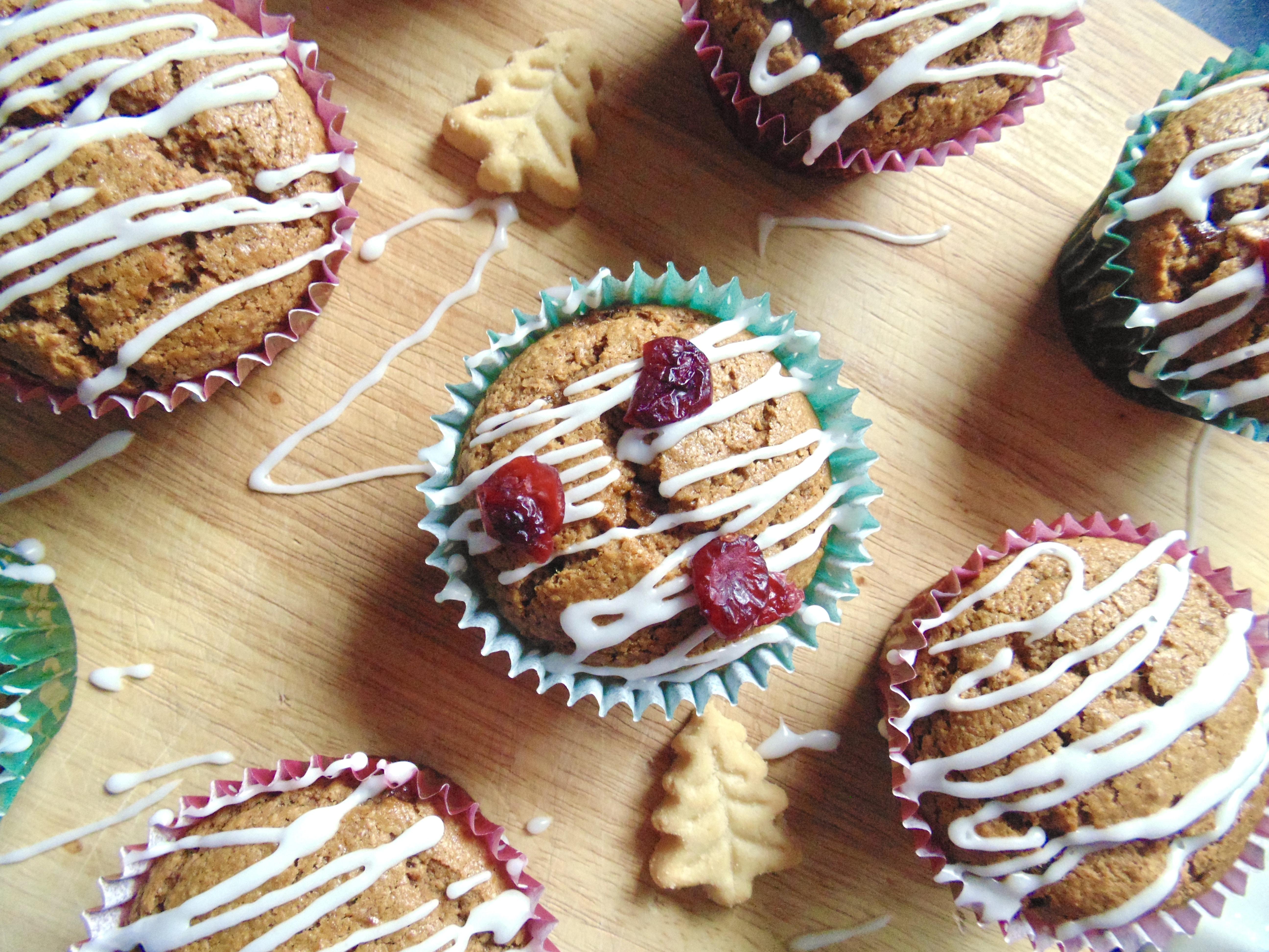 Sticky Orange Gingerbread Muffins