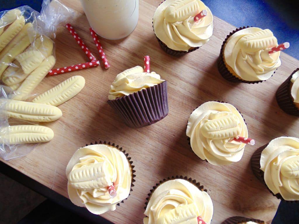 banana milkshake cupcakes