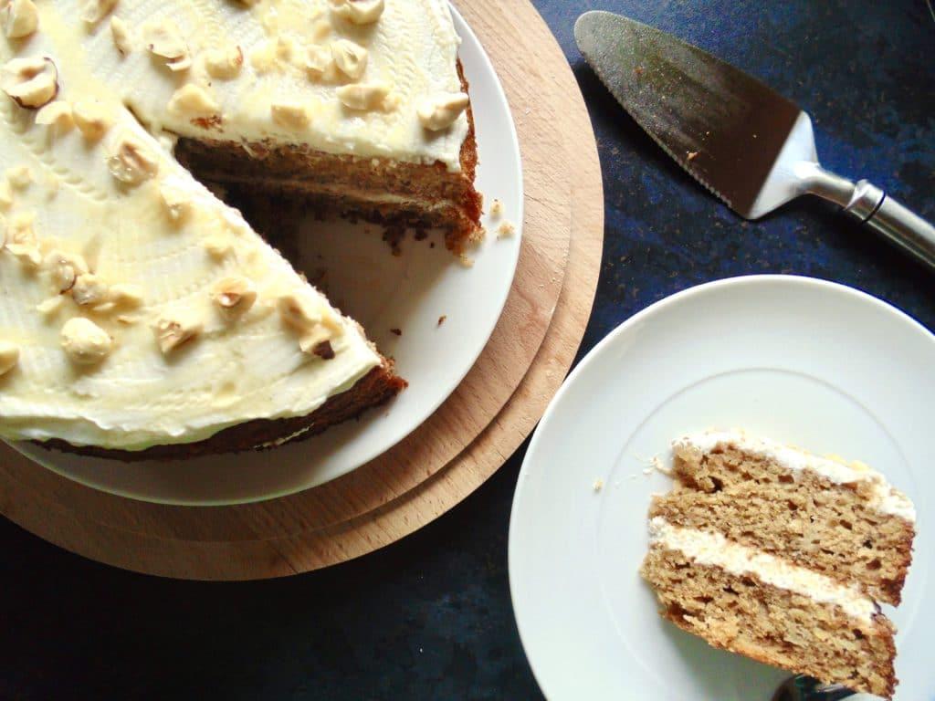 parsnip honey cake with lemon ricotta frosting