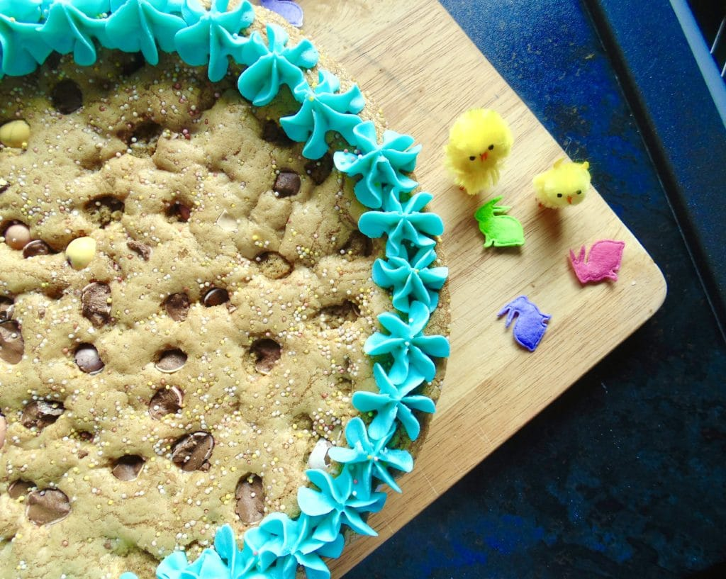 giant mini egg cookie cake