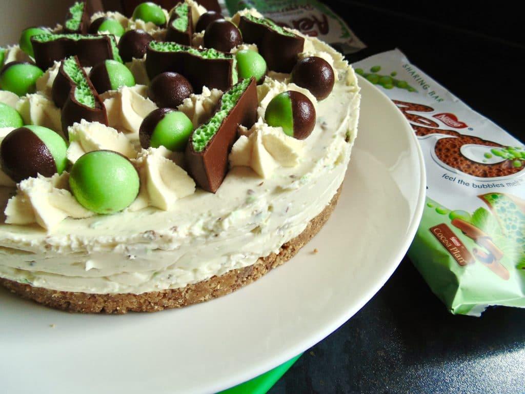 aero mint chocolate cheesecake