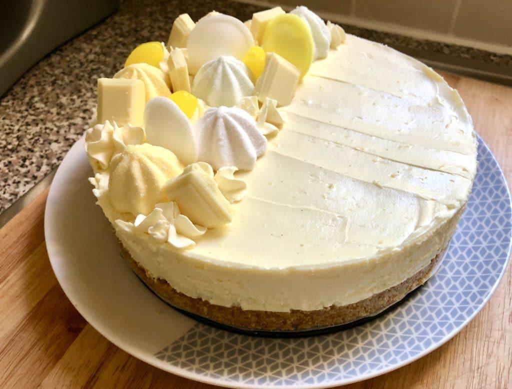 lemon white chocolate cheesecake
