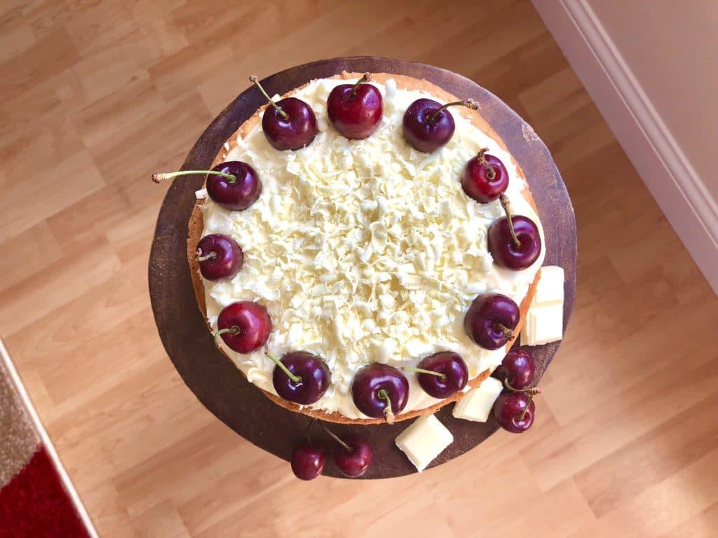 Cherry White Chocolate Cake