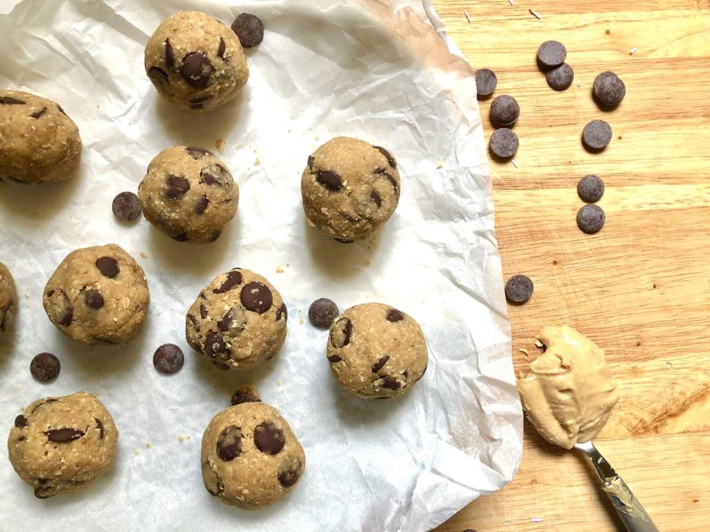 healthy peanut butter cookie dough bites