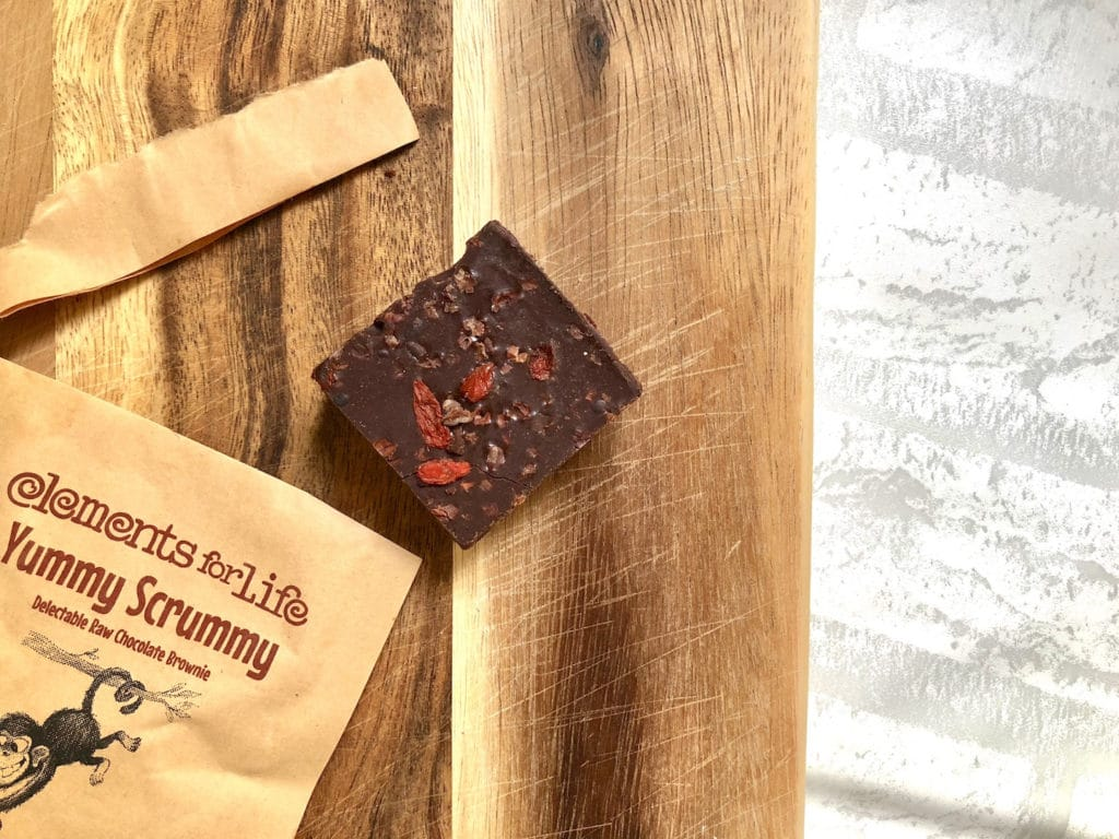 elements for life raw chocolate brownie