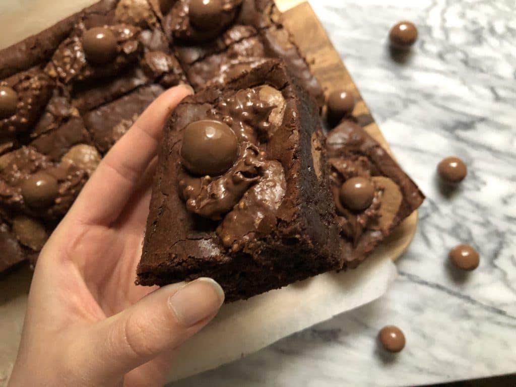 best ever malteser brownies